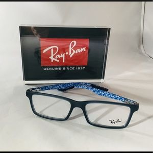 Ray-Ban RX8901 5262 Carbon Fiber Demi Gloss Blue